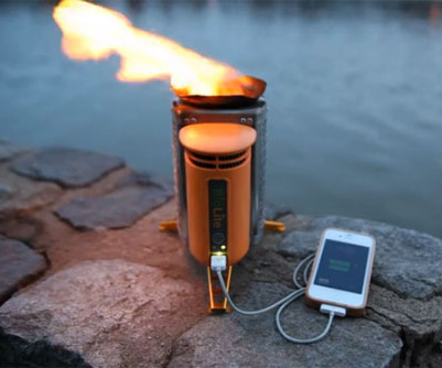 Biolite camp stove with USB charger