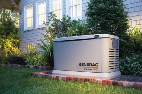This Generac standby generator automatically turns on during a power outage.