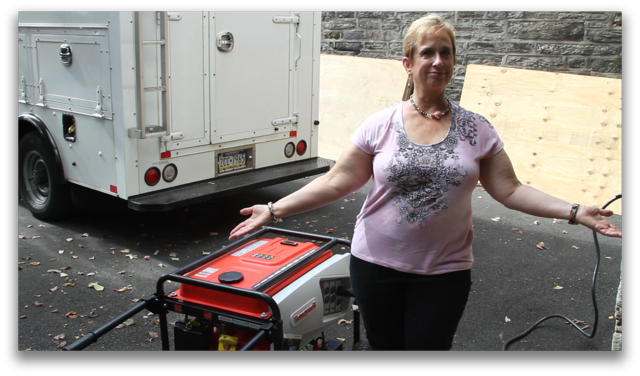 Marge and her portable generator