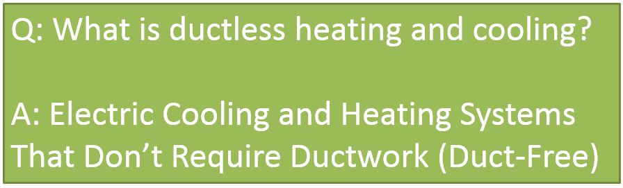 What is ductless heating and cooling?