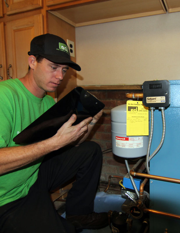 Schedule a heater tuneup and safety inspection