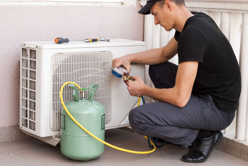 Replace Freon air conditioner